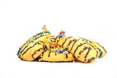 Stora kakor på frukosten Royaltyfri Fotografi