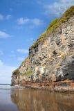 Stora klippor av Ballybunion på den lösa atlantiska vägen Arkivbild