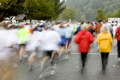 stora löpare för columbia crossing Royaltyfria Foton