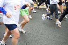 stora löpare för columbia crossing Arkivbilder