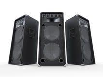 Stora ljudsignala högtalare på vit bakgrund Royaltyfria Foton