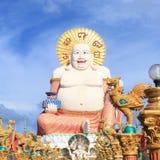 Stora lyckliga buddha Royaltyfri Bild