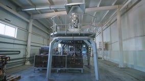 Stora maskiner för packande sädesslag, korn såväl som livsmedel lager videofilmer