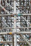 Stora material till byggnadsställningskarvar Arkivfoton