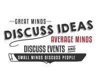Stora meningar diskuterar genomsnittliga meningar för idéer för att diskutera små meningar för händelser för att diskutera folk vektor illustrationer