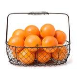 Stora mogna saftiga apelsiner Arkivbild