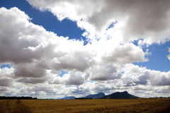 Stora moln i lantliga Victoria Royaltyfria Foton