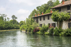 Stora Naviglio (Milan, Italien) Royaltyfri Foto