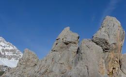 Stora och majestätiska klippor Royaltyfria Foton