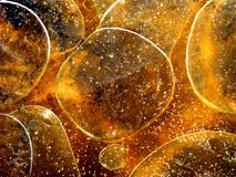 Stora ojämna bubblor på den bruna yttersidan Arkivbild