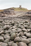 stora pebbles för dunstanburgh Fotografering för Bildbyråer