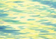 Stora penseldrag av textur för olje- målning waves för textur för hav för illustrationsdesign naturliga Arkivfoto
