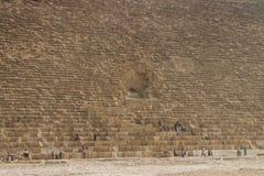 Stora pyramider av Gizah i Kairo, Egypten Royaltyfri Bild