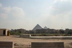 Stora pyramider av Gizah i Kairo, Egypten Arkivbilder