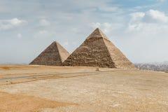 Stora pyramider egypt Royaltyfria Foton
