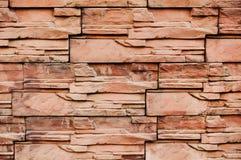 Stora röda stens vägg arkivbilder