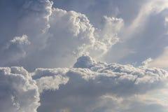 Stora regnmoln Arkivfoton