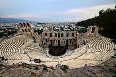 Stora Roman Amphitheater, Aten, Grekland arkivfoton
