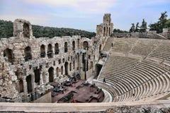 Stora Roman Amphitheater, Aten, Grekland arkivbild