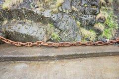 Stora rostiga chain sammanlänkningar Royaltyfri Foto