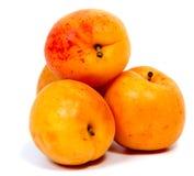 Stora saftiga persikor Användbar diet- och vegetarisk mat Arkivfoton
