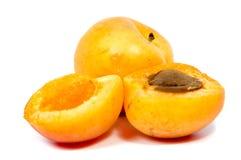 Stora saftiga persikor Användbar diet- och vegetarisk mat Royaltyfria Bilder