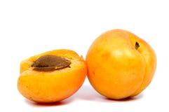 Stora saftiga persikor Användbar diet- och vegetarisk mat Royaltyfri Fotografi