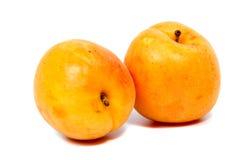 Stora saftiga persikor Användbar diet- och vegetarisk mat Arkivbild