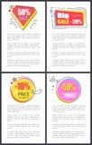 Stora Sale -20 och -10 av vektorillustration Arkivfoton