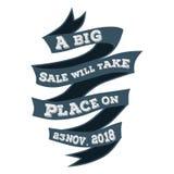 Stora Sale ska äga rum på 23 november logo 2018 vektor illustrationer