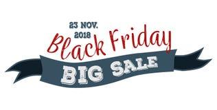 Stora Sale ska äga rum på 23 november logo 2018 royaltyfri illustrationer