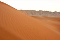 Stora sanddyn i Dubai Arkivfoton