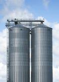 stora silos Arkivbilder