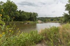 Stora Sioux River royaltyfri fotografi
