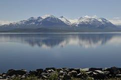 Stora Sjöfallet with Akka Mountain Royalty Free Stock Images