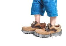 stora skor Royaltyfri Foto