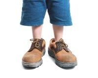 stora skor Arkivbild