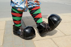 stora skor Royaltyfri Fotografi