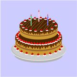Stora smakliga tårtor arkivfoto