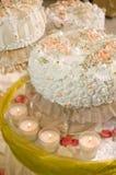stora stearinljus pie Royaltyfri Bild
