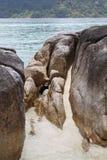 stora strandstenblock Arkivbilder
