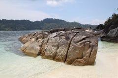 stora strandstenblock Royaltyfri Foto