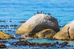 stora strandstenblock Royaltyfri Fotografi