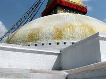 Stora Stupa av Boudhanath Katmandu Nepal Arkivbilder