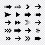 Stora svarta fastst?llda symboler f?r pilar Pilsymbol Pilvektorsamling arrowheaden mark?r Moderna enkla pilar vektor vektor illustrationer