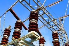 Stora switchgears och strömbrytare Fotografering för Bildbyråer
