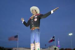 Stora Tex på mässa parkerar aftonen Texas Dallas royaltyfri foto
