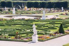 Stora trädgårdar, Herrenhausen, Hannover, lägre Sachsen, Tyskland Arkivbild