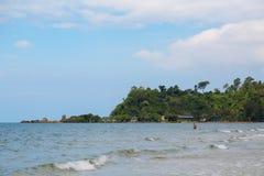 Stora vågor på havet Royaltyfri Fotografi