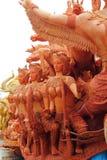 Stora vaxstearinljus som används på festivalen Royaltyfri Bild